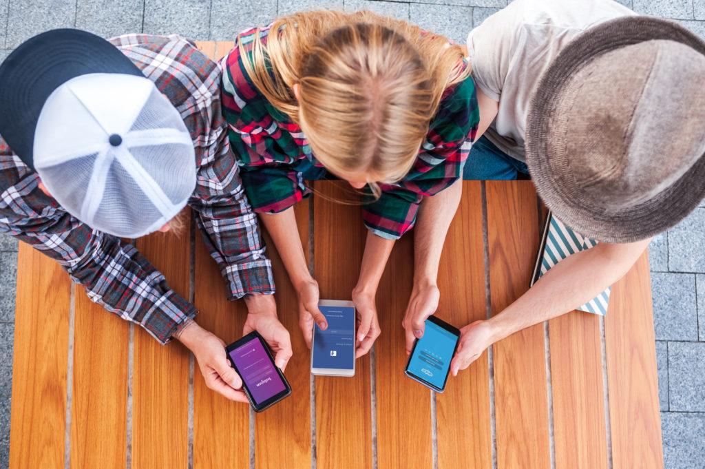 tendências crescentes para Facebook e Instagram